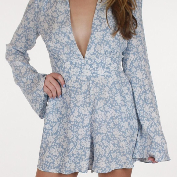 157fa67eed3 Light blue floral romper - Small - NWT
